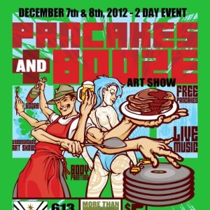There won't really be a guy with four arms at the Pancakes and Booze Show.