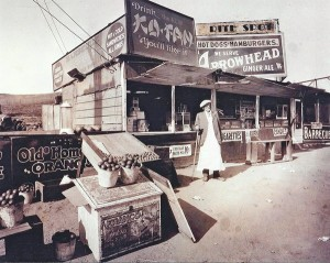 The original Rite Spot in West Pasadena where Lionel Sternberger made history in 1924