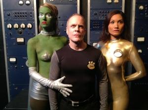 Captain Dan Dixon vs. The Moth Sluts from the 5th Dimension (L -R): Katherine Canipe, Matthew Sklar, Gloria Baraquio