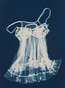 BABY DOLL Cyanotype by Max Kellenberger http://www.maxkellenberger.com/at Smith Andersen North  (http://www.smithandersennorth.com/) at Photo L.A.