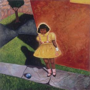 Little Girl with Yellow Dress  by Patssi Valdez (Courtesy of The Chicano Collection)