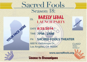 Sacred Fools Barely Legal