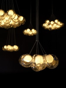 Get lit -- Bocci lighting at the WestEdge Design Fair.