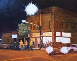 Kevin Spitze paints York Boulevard