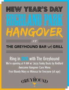 Greyhound Highland Park Hangover Party vert