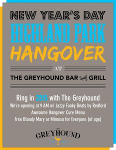 Greyhound Highland Park Hangover Party vert