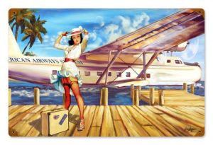 Vintage travel pinup