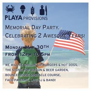 Playa Provisions: where to start your summer this Monday.