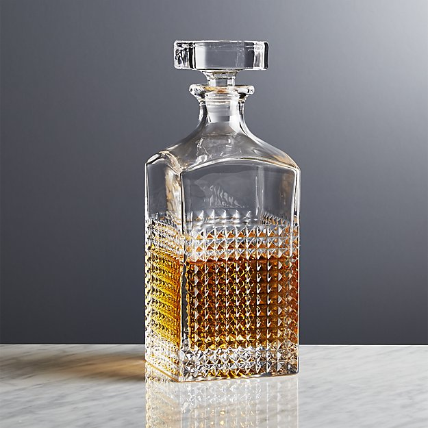 Crate & Barrel brixton-decanter