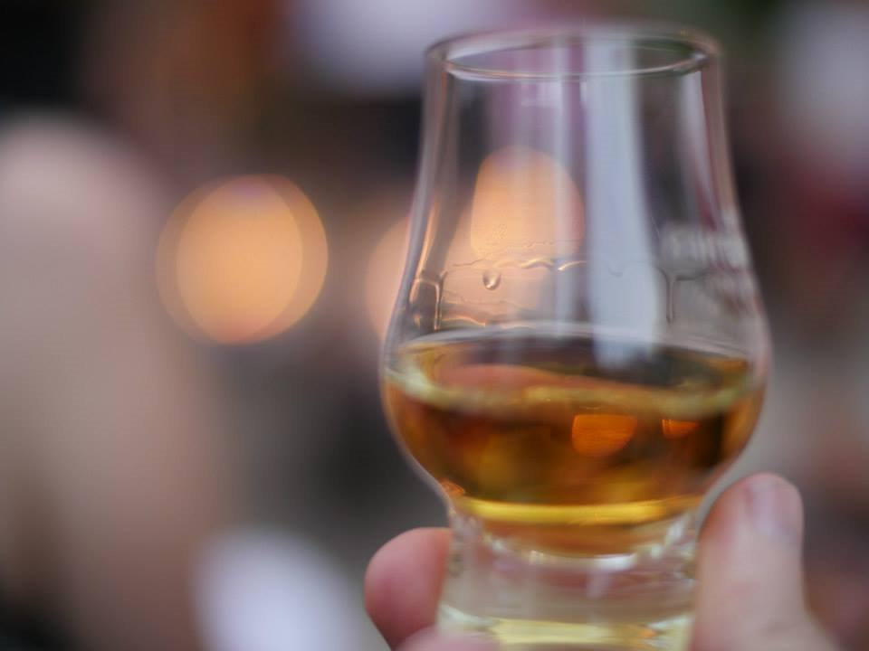 Whisky glass with female hand - Right